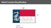 North Carolina Flags 3x5 foot
