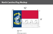 North Carolina Flags 8x12 foot
