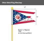 Ohio Stick Flags 12x18 inch