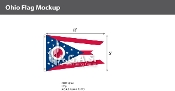 Ohio Flags 5x8 foot