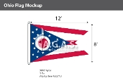 Ohio Flags 8x12 foot