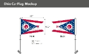 Ohio Car Flags 10.5x15 inch