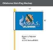 Oklahoma Stick Flags 12x18 inch