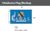 Oklahoma Flags 12x18 inch