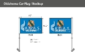 Oklahoma Car Flags 10.5x15 inch