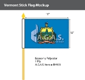 Vermont Stick Flags 12x18 inch