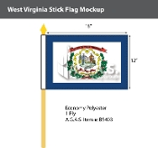 West Virginia Stick Flags 12x18 inch