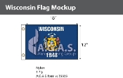 Wisconsin Flags 12x18 inch