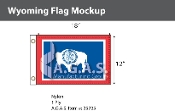 Wyoming Flags 12x18 inch