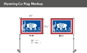 Wyoming Car Flags 10.5x15 inch