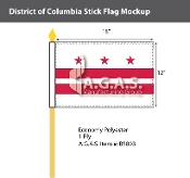 District of Columbia Stick Flags 12x18 inch