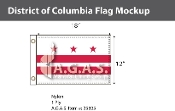 District of Columbia Flags 12x18 inch