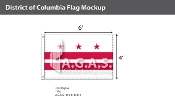 District of Columbia Flags 4x6 foot