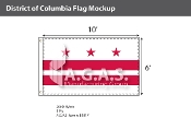 District of Columbia Flags 6x10 foot