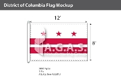 District of Columbia Flags 8x12 foot