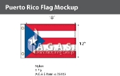 Puerto Rico Flags 12x18 inch