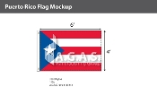 Puerto Rico Flags 4x6 foot