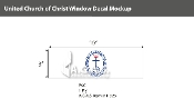 United Church of Christ Window Decals 3x10 inch