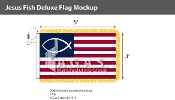 Jesus Fish Deluxe Flags 3x5 foot