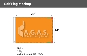 Blank Orange Golf Flags 14x20 inch