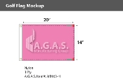 Blank Pink Golf Flags 14x20 inch