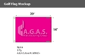 Blank Magenta Golf Flags 14x20 inch
