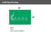 Blank Green Golf Flags 14x20 inch