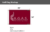 Blank Maroon Golf Flags 14x20 inch