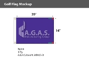 Blank Purple Golf Flags 14x20 inch