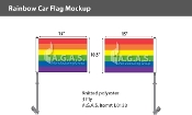 "Rainbow Car Flag 10.5""X15"""