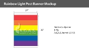 Rainbow Light Post Banner 3'X8'