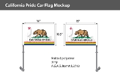 "California Pride Car Flag 10.5""X15"""
