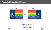 "Texas Pride Car Flag 10.5""X15"""