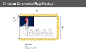 Christian Ceremonial Flags 3x5 foot