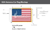 USA Antenna Flags 4x6 inch
