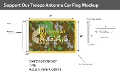 Support Our Troops Antenna Flags 4x6 inch (camouflage)