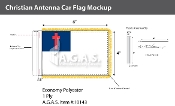 Christian Antenna Flags 4x6 inch