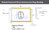 United Church of Christ Antenna Flags 4x6 inch