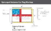 Episcopal Antenna Flags 4x6 inch
