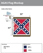 Confederate Battle Deluxe Flags 51x51 inch
