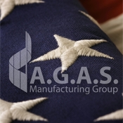 USA High Density Embroidered Flags